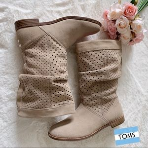TOMS Serra Oxford Suede Perforated Slouch Boots